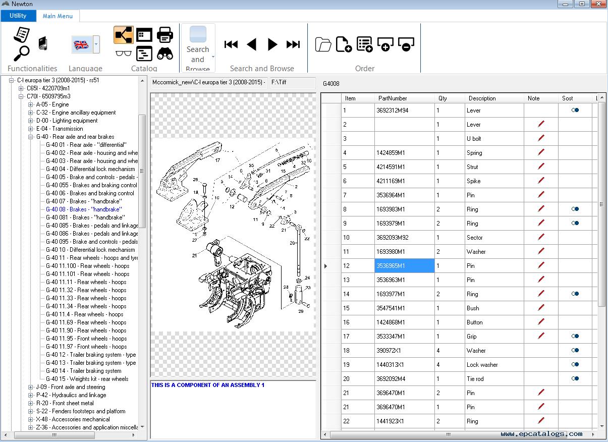 McCormick Newton 8.0 Spare Parts Catalog 2015 Download