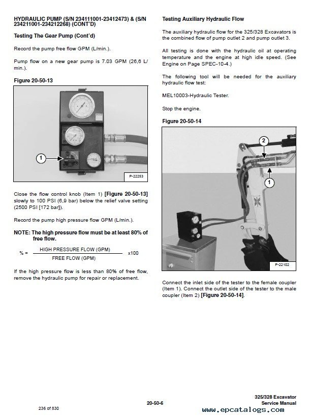 Bobcat 325, 328 Excavator G Series Service Manual PDF