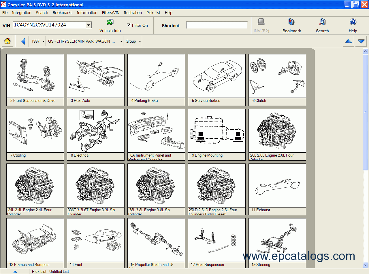Chrysler EPC International Electronic Parts Download