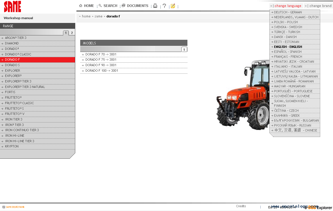 same sdf e parts 2014 spare parts catalog download rh epcatalogs com Same Corsaro 70 Parts Oliver Tractor Parts