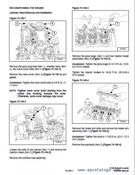 bobcat s130 skid steer loader service manual pdf  repair