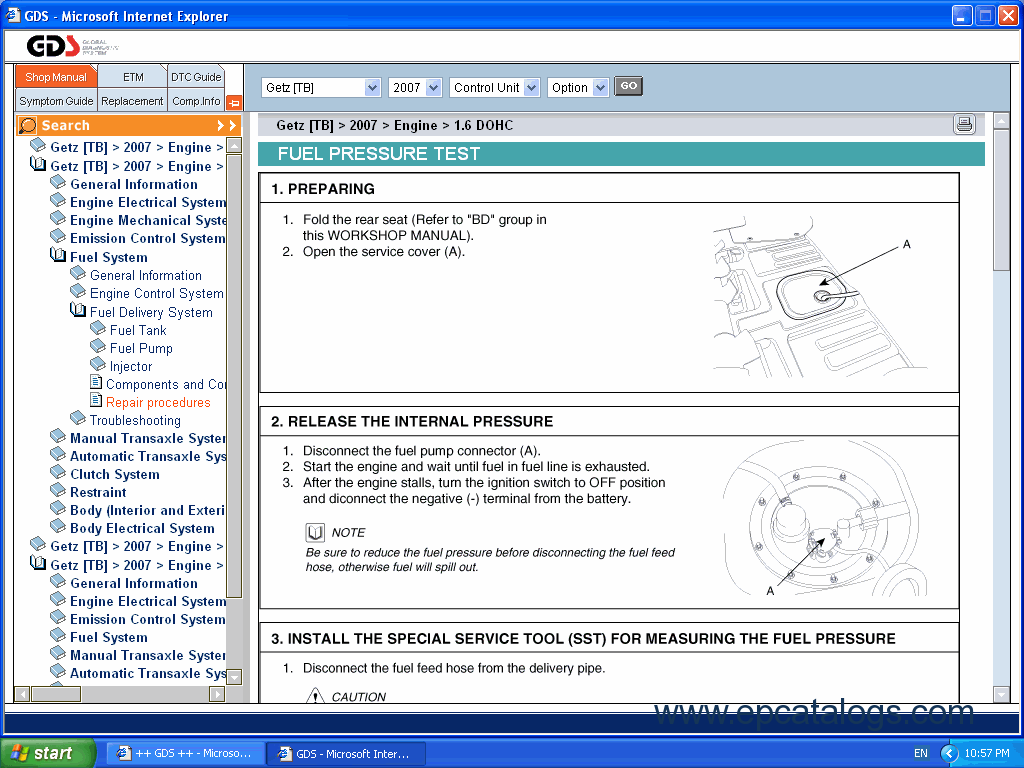 hyundai gds description of the catalog repair manuals download rh  epcatalogs com 2003 Hyundai Tiburon Repair Manual 2001 Hyundai Sonata Repair  Manual
