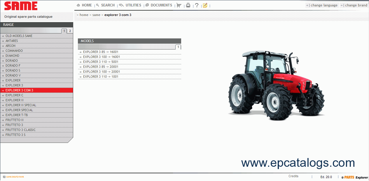 same sdf e parts repair and service manuals download rh epcatalogs com Same Engine Parts Same Tractor Parts Manual