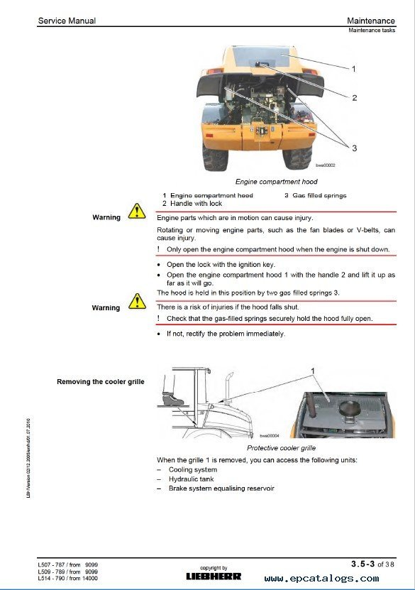 repair manual liebherr l507s, l509s, l514 stereo wheel loader service manual  pdf - 3