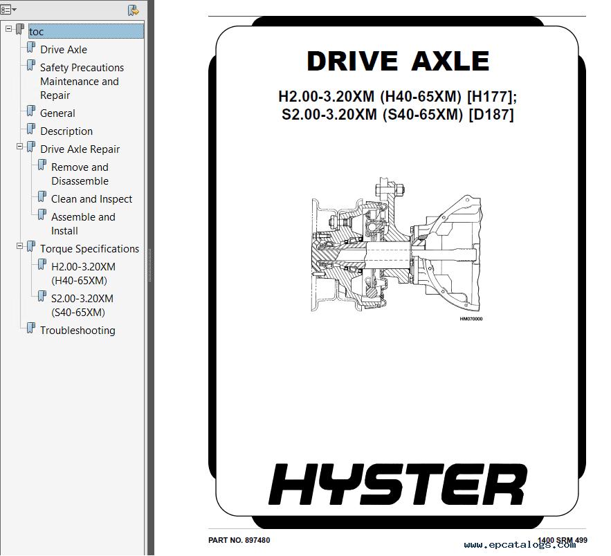 hyster class 4 d187 s40