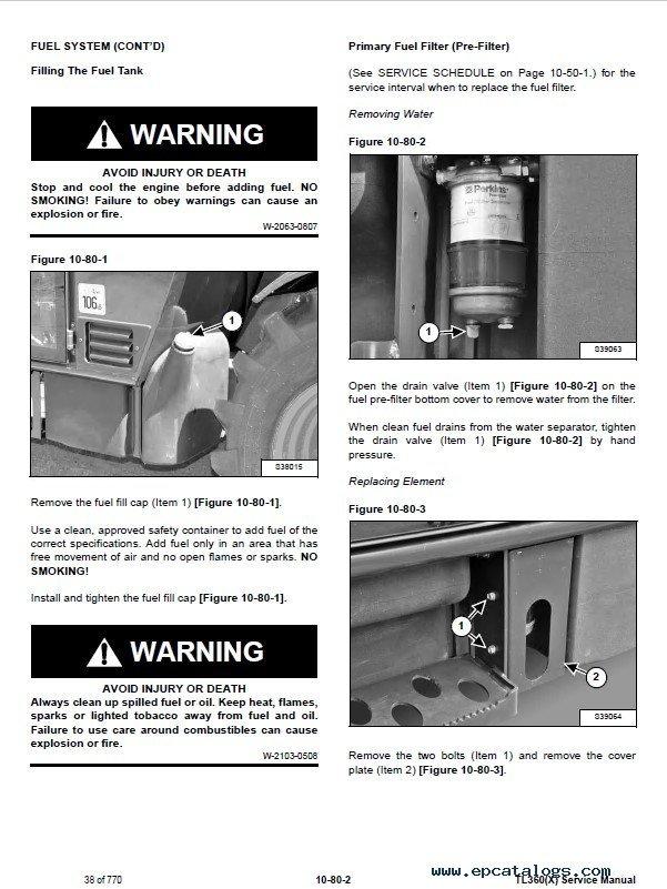 Bobcat Tl360 X Telescopic Handler Service Manual Pdf
