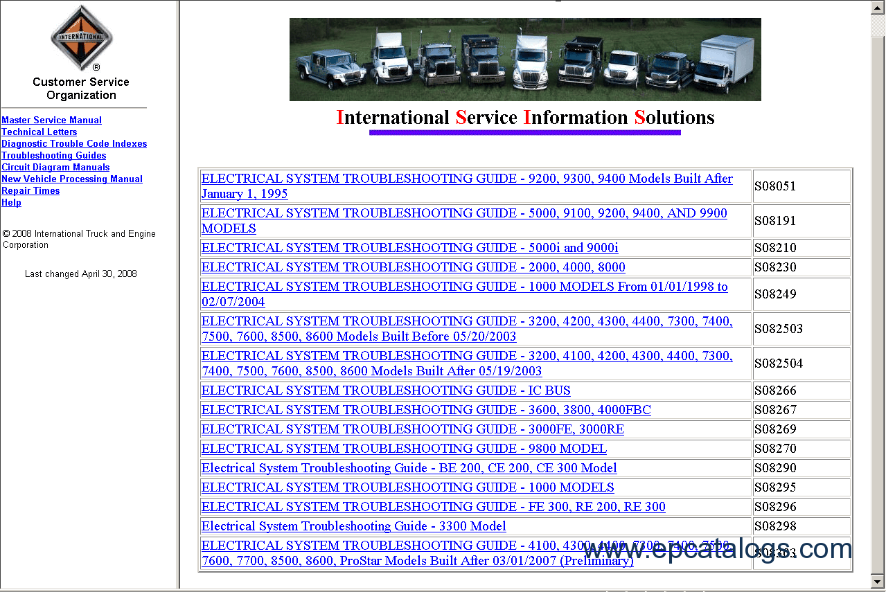 International Truck ISIS repair manual buy international truck isis 2012, repair manual, trucks buses repair Ford 7600 Wiring Diagram at eliteediting.co