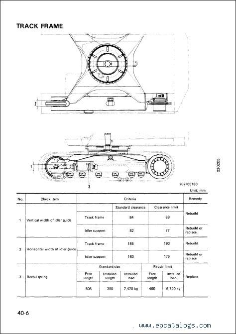 Komatsu pc 120 service manual