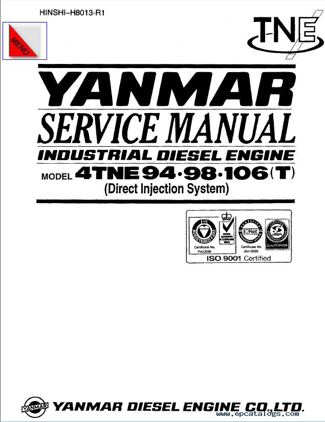 download yanmar engine 4tne service manual for hyundai
