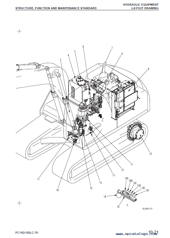 Komatsu Hydraulic Excavator Pc160lc 7k Pc180lc 7k Set Of Pdf Manuals