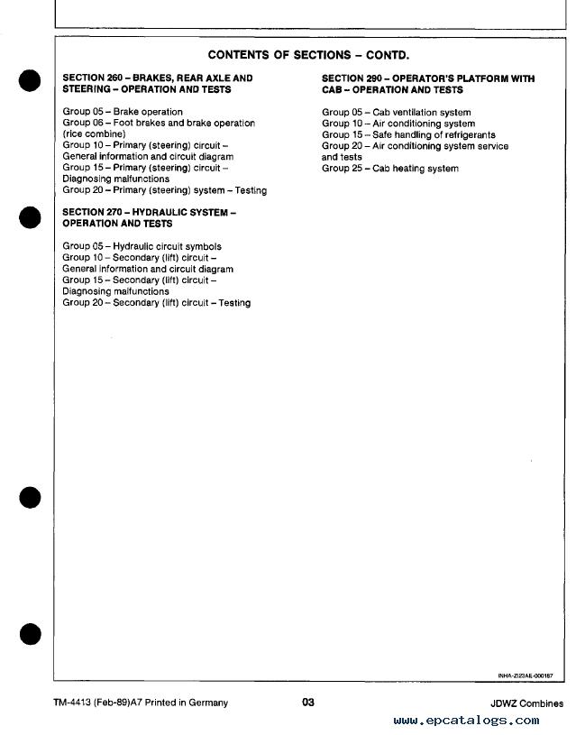 "John Deere 1032, 1042, 1052, 1055 Combines TM4413 Technical Manual on john deere sabre mower belt diagram, john deere voltage regulator wiring, john deere tractor wiring, john deere chassis, john deere gt235 diagram, john deere 345 diagram, john deere riding mower diagram, john deere starters diagrams, john deere power beyond diagram, john deere cylinder head, john deere fuel system diagram, john deere electrical diagrams, john deere rear end diagrams, john deere 3020 diagram, john deere 212 diagram, john deere 310e backhoe problems, john deere 42"" deck diagrams, john deere fuse box diagram, john deere fuel gauge wiring, john deere repair diagrams,"