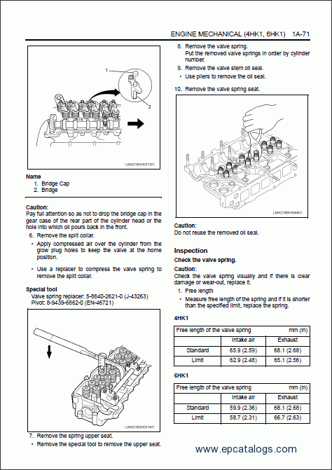 hitachi engine 4hk1  6hk1  isuzu  repair manual download