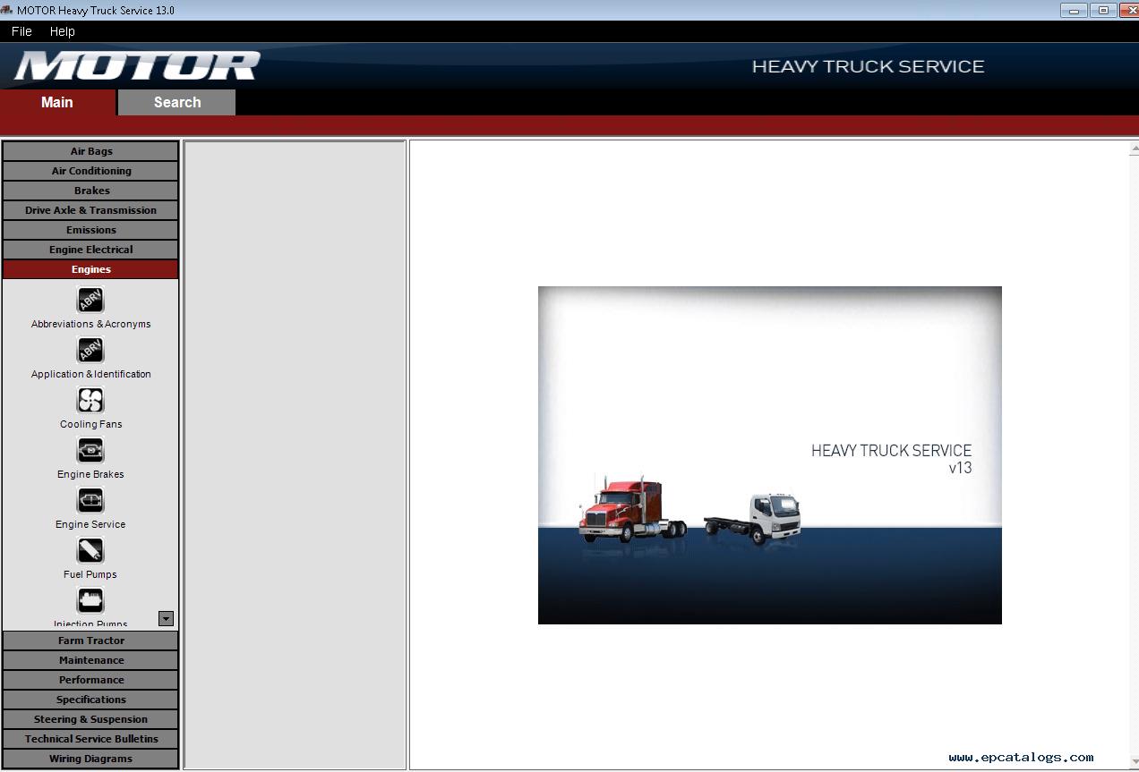 Motor Heavy Truck Service V