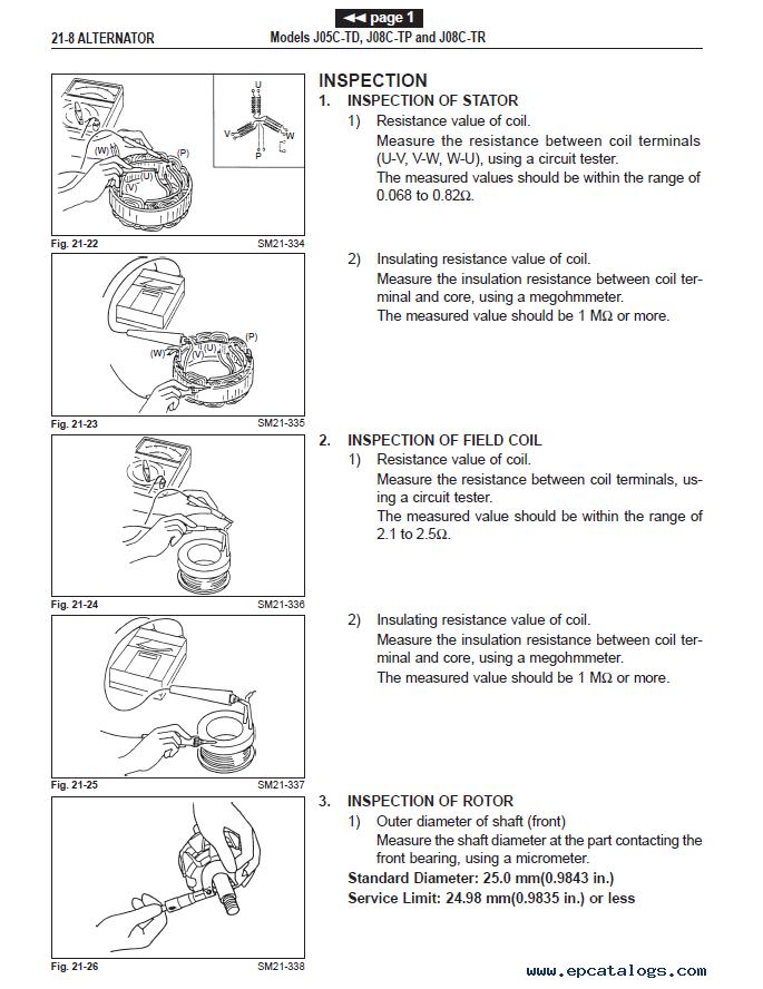 Hino Diesel Trucks Fa And Fb Series Workshop Manual Pdf Download