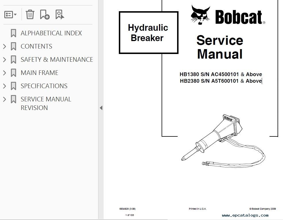 bobcat 743 hydraulic system diagram