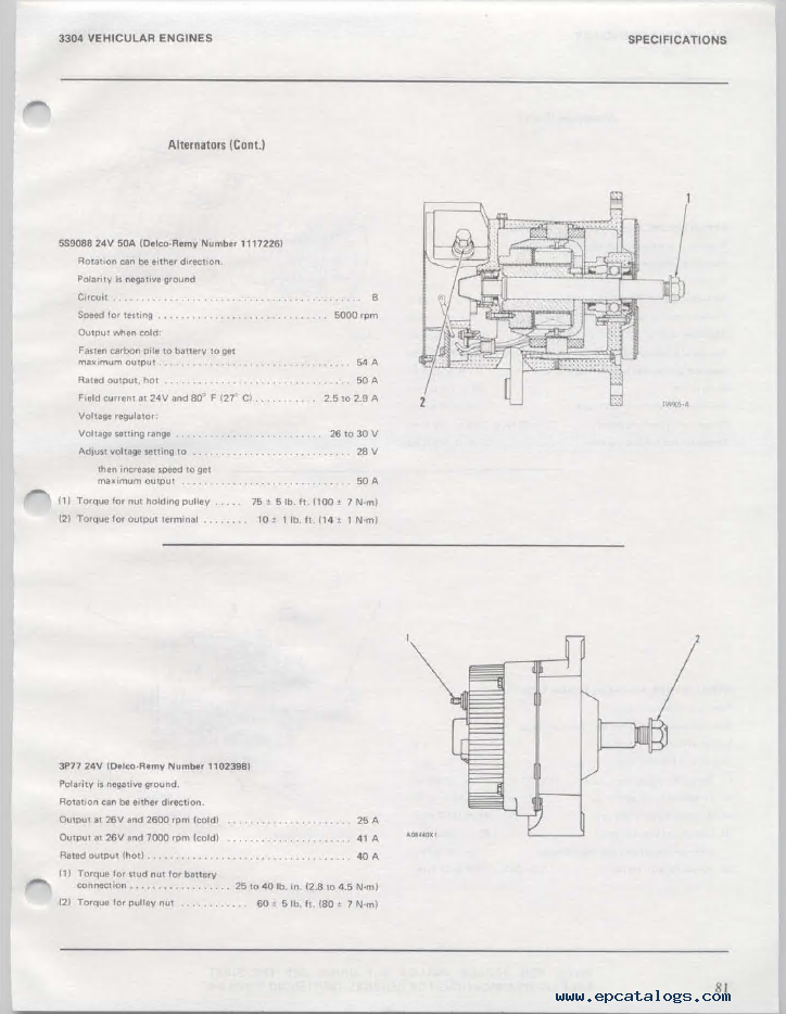 caterpillar 3304 vehicular engine pdf books  u0026 manuals