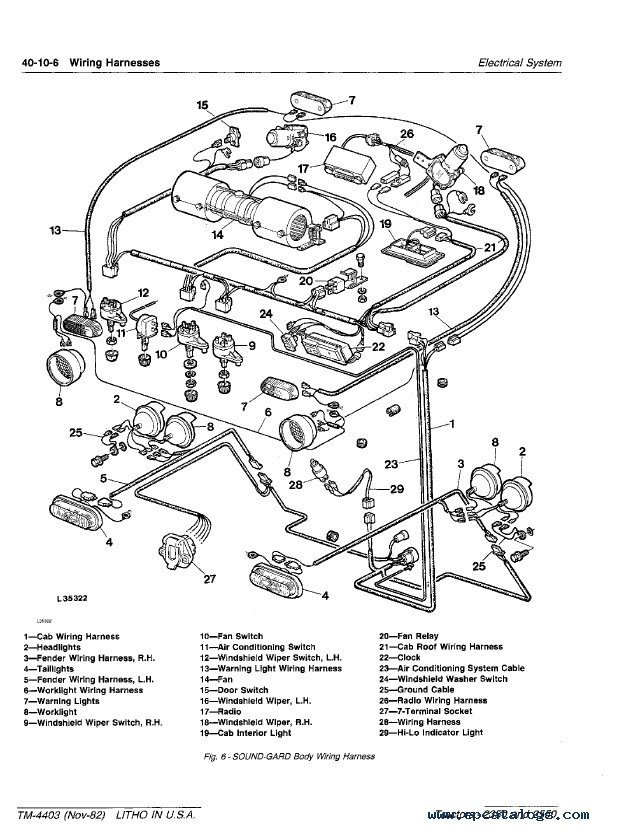 John Deere 2350 2550 Tractors TM4403 Technical Manual PDF – John Deere Wiring Harness Diagram