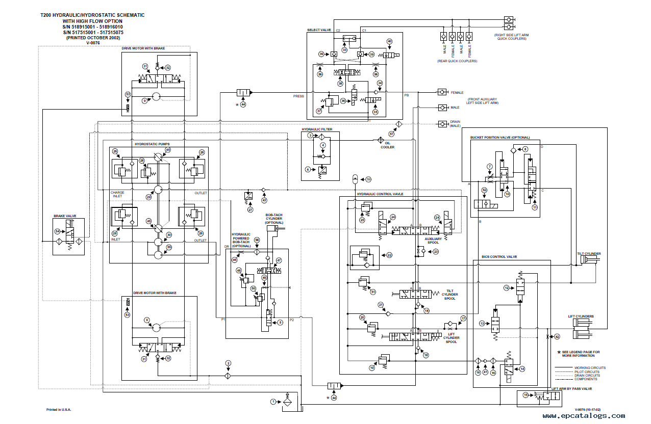 Bobcat Wiring Diagrams For 743 Diagram S300 Wire S205 Description