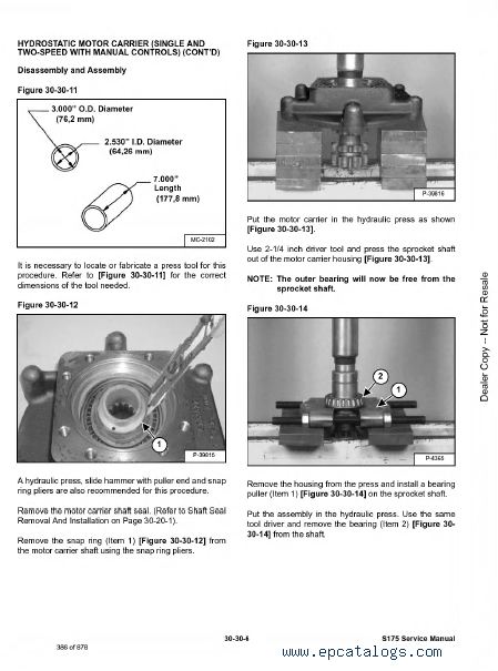 Bobcat S175 Repair Manual