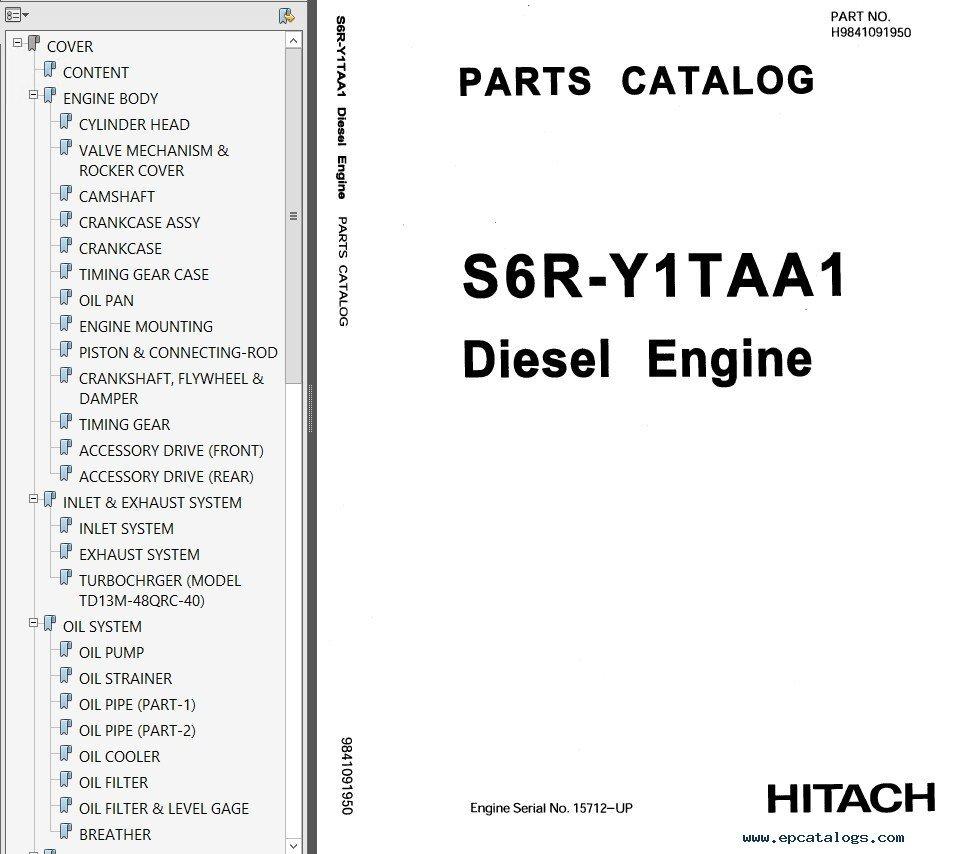 mitsubishi engine s6r hitachi set of pdf manuals rh epcatalogs com Mitsubishi Montero Engine Manual Mitsubishi Eclipse Manual