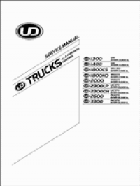repair manual Nissan UD Trucks 1300, 1400, 1800, 2000, 2300, 2600, 3300 PDF Service Manual