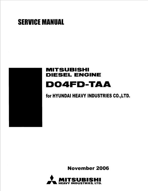 download mitsubishi engine d04fd