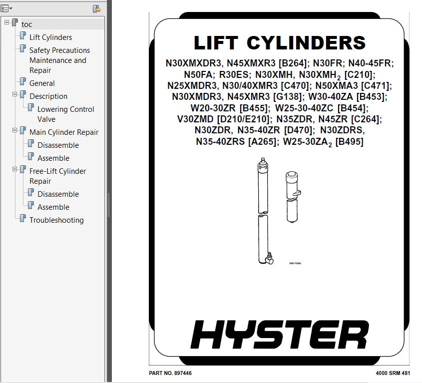 Hyster Class 2 B470 N25xmdr2 N30