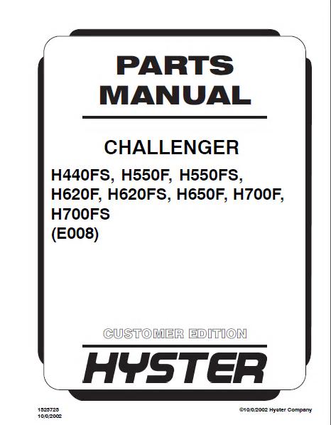 hyster challenger h440fs h550f fs h620f fs h650f h700f fs pdf rh epcatalogs com
