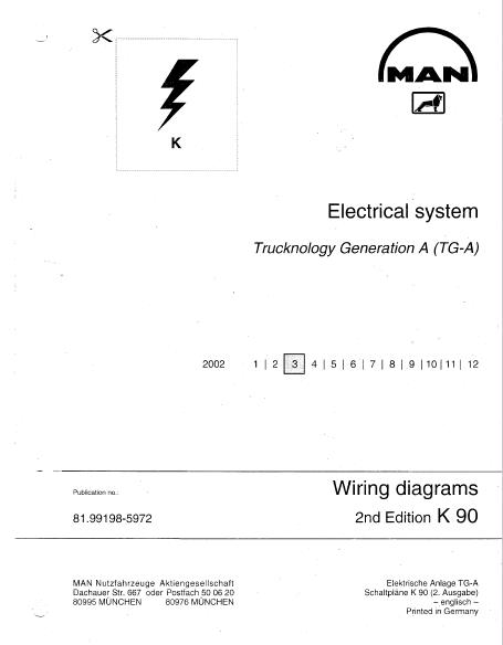 man electrical system tg a wiring diagrams manual pdf rh epcatalogs com man tgx service manual Man TGS