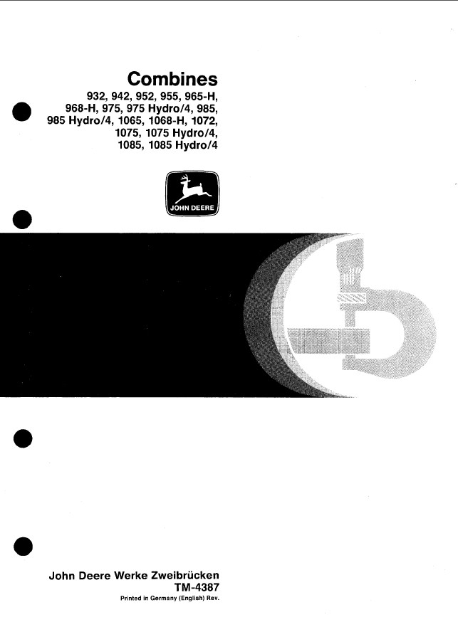 john deere combines technical manual tm4387 pdf rh epcatalogs com John Deere Service Manuals John Deere 301A Service Manual