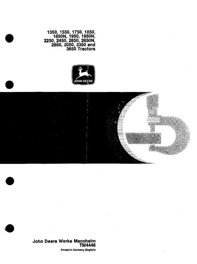 John Deere Tractors Tm4446 Technical Manual Pdf