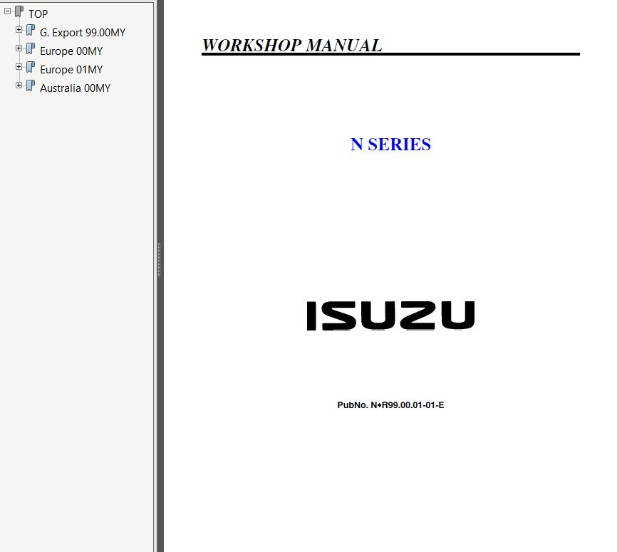 isuzu n series workshop manual pdf repair manual trucks buses repair manual isuzu n series workshop manual pdf