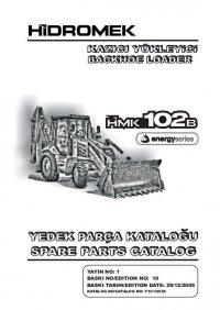 spare parts catalog Hidromek HMK 102B, 102S, 200W, 220LC-2 Backhoe Loaders Set of Parts Catalogs PDF