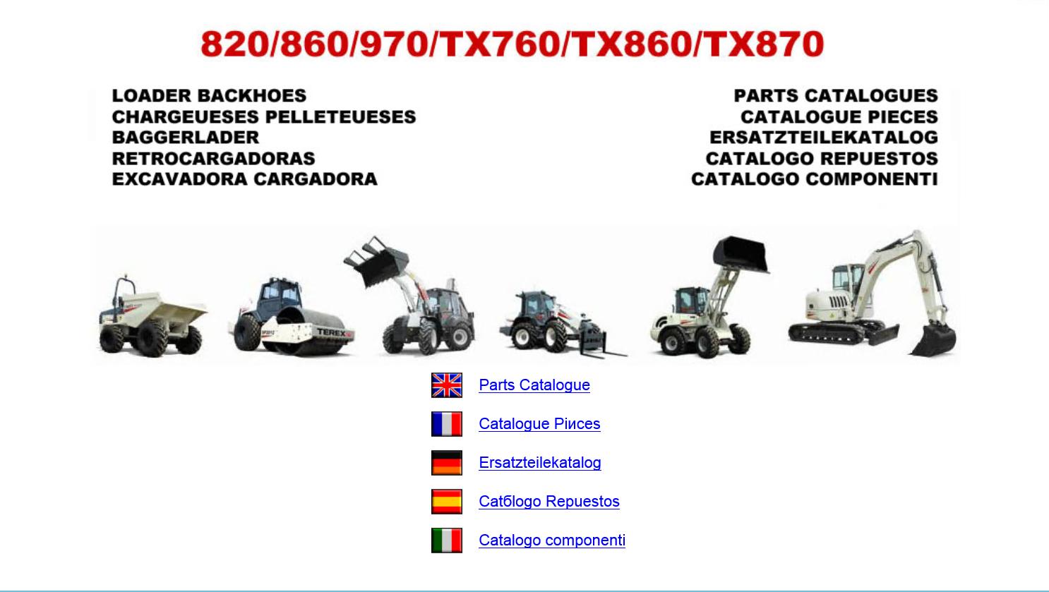 spare parts catalog Terex Americas & Fermec Loader Backhoes Parts Catalogues