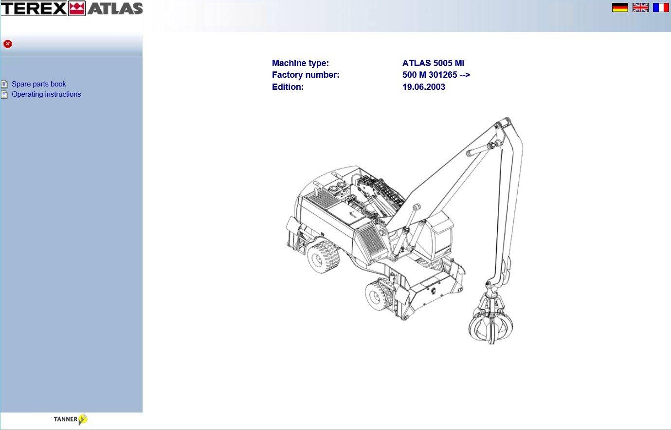 Terex Atlas Parts Catalog