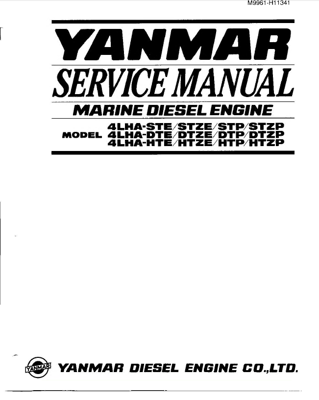 yanmar marine diesel engine 4lha series pdf manual repair manual yanmar marine diesel engine 4lha series service manual pdf