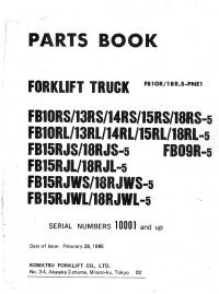 spare parts catalog Komatsu Forklift Set of Parts Books PDF