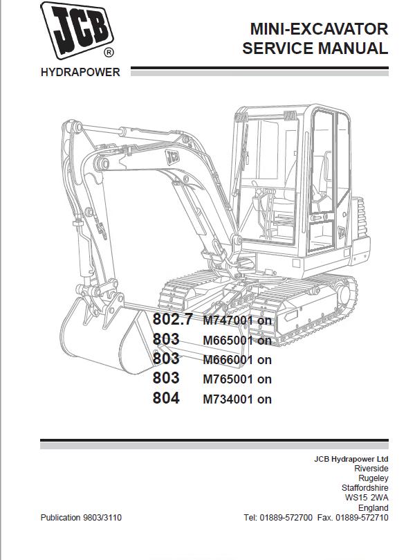Jcb 804 Parts Manual