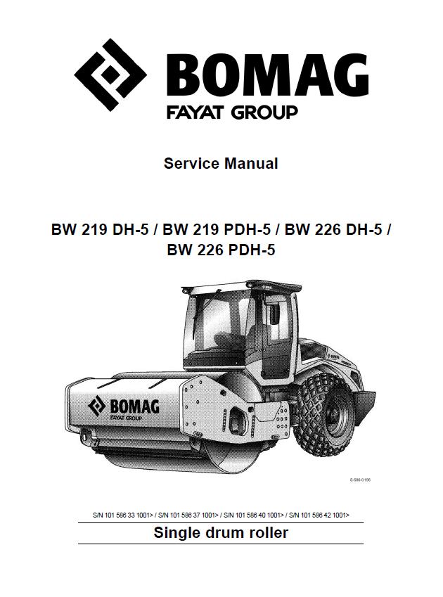 Bomag BW219  BW226    Single       Drum    Roller PDF Service Manual