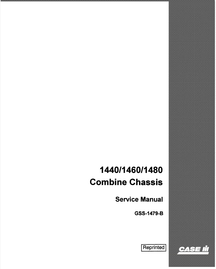 Case 1440  1460  1480 Chassis Combines Pdf Service Manual