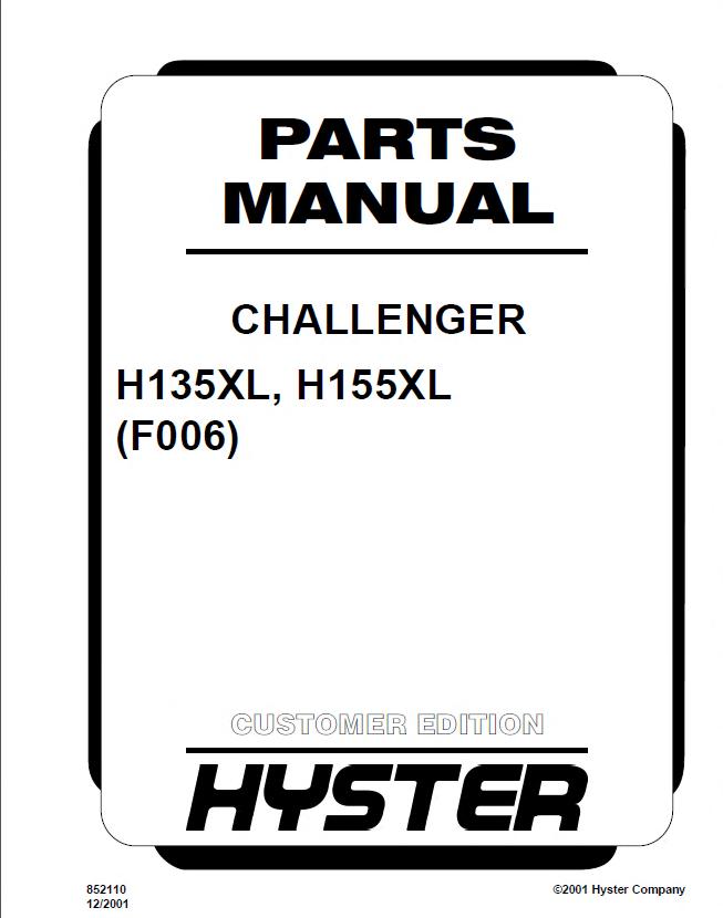 hyster challenger h135155  165  280  8 00  12 00xl forklift pdf