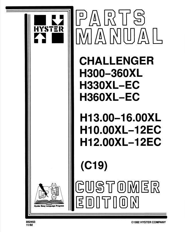 hyster challenger c019 h300 360xl