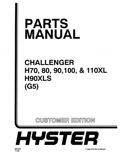 hyster fork lift parts catalog