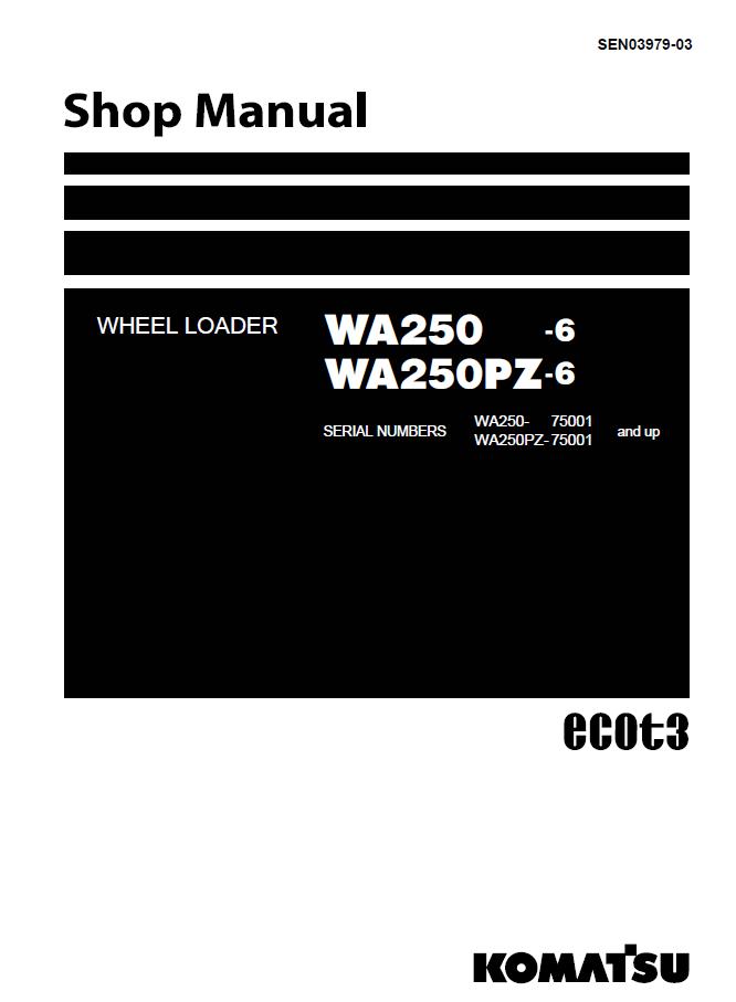 Komatsu Wheel Loader Wa250  Pz