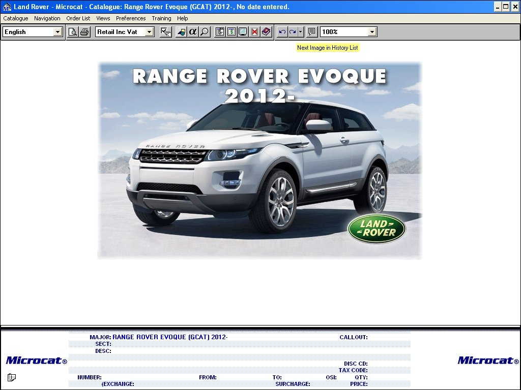 Land Rover    Range Rover Microcat 2014 Parts Catalog Download