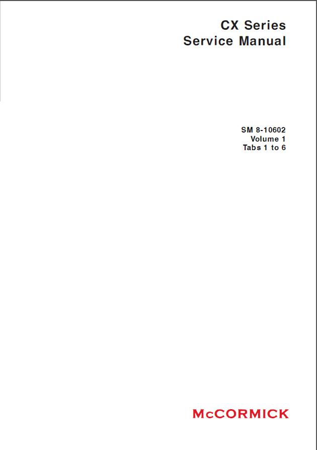 mccormick cx series sm 8 10602 service manual pdf rh epcatalogs com 100 Watt Stopper CX Crosslinker CX 100