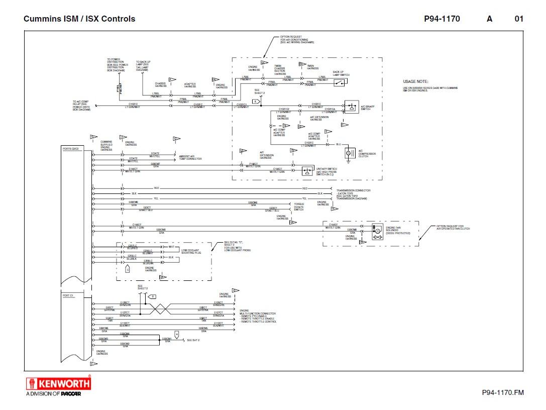 Kenworth T660 Wiring Diagram: Kenworth T660 Cummins ISM ISX Electrical  Schematics Manual PDF ,Design