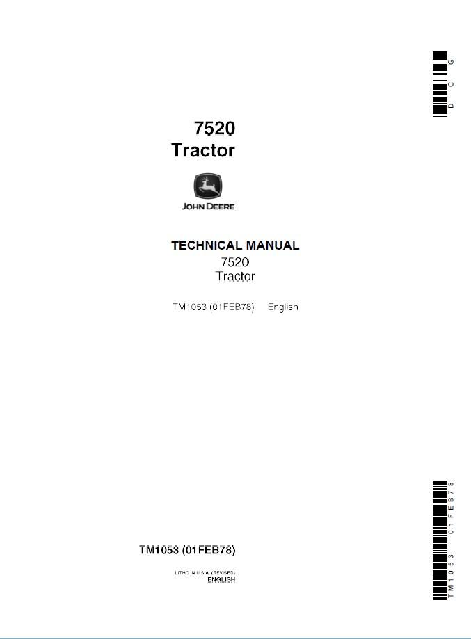 john deere 7520 tractor technical manual tm1053 rh epcatalogs com John Deere 318 Onan Wiring Jk Trailer Wiring Harness