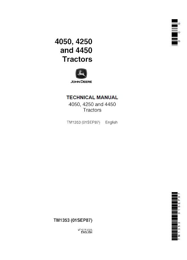john deere 4050 4250 4450 tractors tm1353 pdf manual rh epcatalogs com