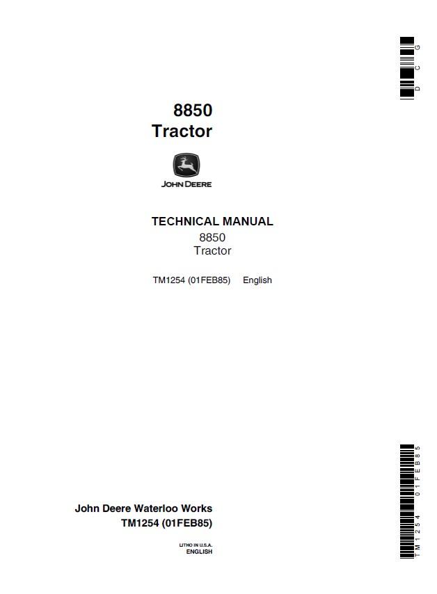 john deere service manual 8850 daily instruction manual guides u2022 rh testingwordpress co john deere service manual 850j john deere 8850 service manual
